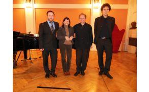 Borut Peljhan, Jerica Rudolf, Vladimir Mlinarić in Marko Ferjančič