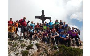 Planinci PD Slovenj Gradec na vrhu Dobrača