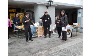 Predsednik ČD Tržič Vinko Perne, predsednik ČZS Boštjan Noč, župan Občine Tržič mag. Borut Sajovic