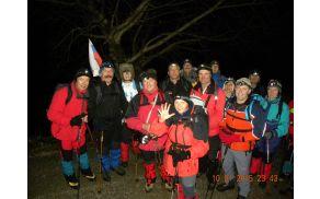 Člani pohodniške sekcije OZVVS Zasavje, pohodniški prijatelji Nanos - Triglav in del hrastniških planincev