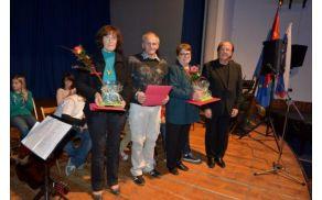 Marica Černigoj, Branko Ukmar, Dora Ambrožič in predsednik Ivo Krušec