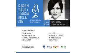 Nuška Drašček bo prva gostja Glasbenih večerov v Tržiškem muzeju