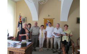 Na sprejemu pri županu mesta Jirkov.