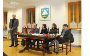 Načelnik UE Tolmin Zdravko Likar z gosti večera