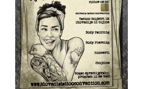 Letak za 2. mednarodno tattoo konvencijo.
