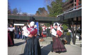 Prikaz gorenjskih plesov v izvedbi Folklorne skupine Bled