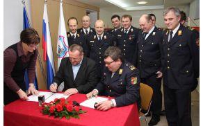 Podpis pogodb