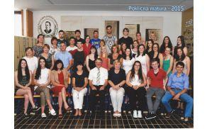 Generacija poklicnih maturantov 2015 s profesorji