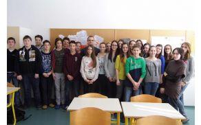 Učenci 9. b razreda s predavateljem Semirjem Čopičem