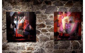 """Duša Jesih predstavlja razstavo """"Genom"""". Foto: Arhiv Ljubljanski grad."""