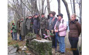 Vsakoletna spominska slovesnost žrtvam prve svetovne vojne in vseh vojn na Globočaku, Foto: TRD Globočak