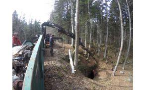 Čiščenje jame Schaffeichloch