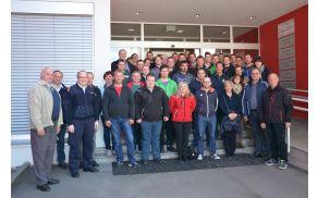 Skupinska fotografija udeležencev strokovnega izleta GZ Vojnik-Dobrna v Avstriji