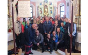 Za spremembo skupinska slika v cerkvi sv. Marije Magdalene