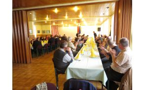 Udeleženci Volilnega zbora ZB za vrednote NOB Slovenj Gradec