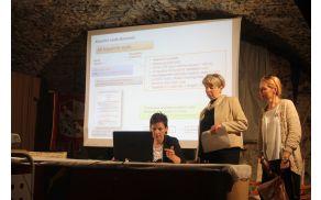 Na novinarski konferenci v Žužemberku so predstavniki Arsa podrobneje predstavili kakovost slovenskih kopalnih voda. Foto:V.Kostevc
