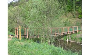 Pogled na prenovljen mostiček