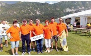 Člani ekipe ČD Fran Lakmayer iz Preddvora