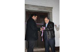 Župan g. Ivan Jordan predaja ključ predsedniku vaške skupnosti
