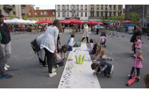 Performans na ulici v Zagrebu