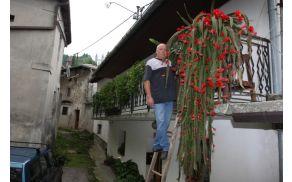 Bogdan Markič je ponosen na svoj kaktus. Foto: Toni Dugorepec