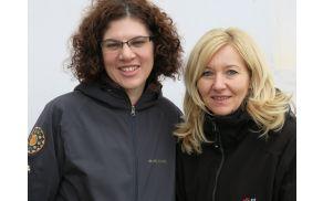 Predsednica KD Dvor  Vesna Može (levo) in tajnica  Jadranka Meglen.Foto: S.Mirtič