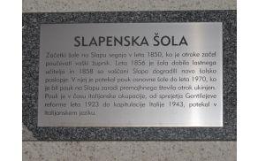 Začetki šole na Slapu segajo v leto 1850