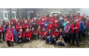 Na vrhu 1.060 m visoke Ivanščice, ki je bila ta dan v megli