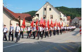 Gasilska parada ob 130-letnici PGD Mokronog