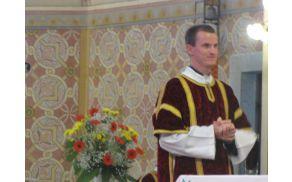 Ivan Šumljak pri sveti maši v Vojniku