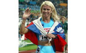 Jolanda Čeplak po zmagi na evropskem prvenstvu v Münchnu