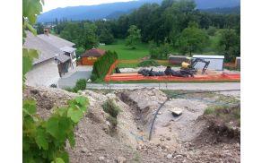 Gradnja kanalizacije v Sebenjah