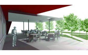 Kulturni dom Deskle. Arhitekturna zasnova prenove lokala arhitektov Uroša in Božidarja Rustje