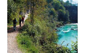 Riverwalk ob Soči, Kobarid, Dolina Soče