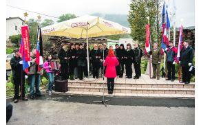Komemoracija na Grajšku - foto Samo Trebižan