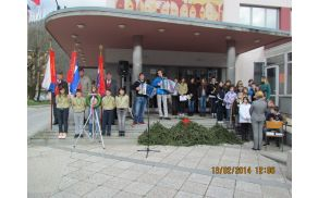 Komemoracija ob 70.obletnici padlih domačinov. Foto: Božo Lovišček