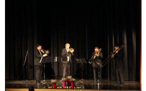Koncert Kvarteta pozavn študentov Akademije za glasbo Univerze v Ljubljani. Foto: Občina Kobarid