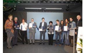Prejemniki priznanj za najbolj inovativne projekte v lokalnih skupnostih (foto: Boštjan Pucelj)