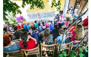 Živahno sobotno dopoldne na Vranskem z Ireno Cerar, pravljicami Gašperja Križnika in z Aljo Viryent Novak. Foto: Luka Dakskobler