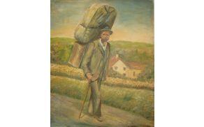 Krošnjar Tonca Naužarjev, naslikala Helena Vuk po fotografiji iz družinskega arhiva Jelka Jerončiča