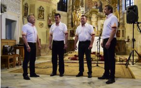 Kvartet Frankolovo sestavljajo Bojan Žnidar, Jože Koštomaj, Miro Špeglič in Boris Podjavoršek.