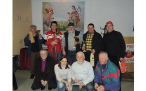 Najboljši na 15. srečanju kvartopircev v Gasilskem domu Socka, skupaj z organizatorji