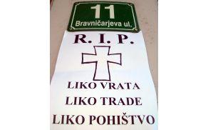 Ljudi vozijo na Žale, firme pa na Bravničarjevo.
