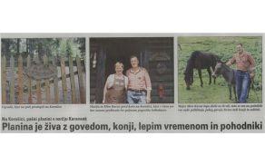 Zapis o planini Korošica