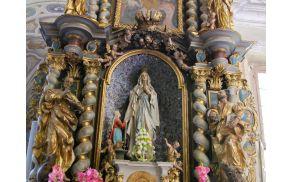 Oltar Lurške Matere Božje v Studenicah