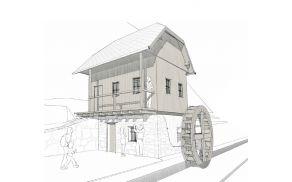 Idejna rešitev ureditve mlina na območju Starega malna, ki so jo pripravili v Delavnici.
