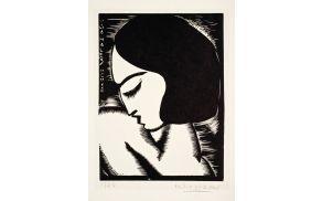 Miha Maleš, Psyché, 1923, lesorez_papir, 28 x 21 cm,Galerija Miha Maleš Kamnik (Medium)
