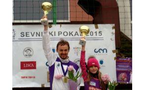 Miha Povšič in Nina Lisec - absolutna zmagovalca Sevniškega pokala 2015/2016