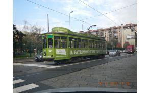 Tramvaj bo bo ulicah Milana vozil cel november 2014. Foto: Spirit Slovenija