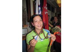 25-letna Lucija Mlinarič je svoji bogati beri medalj s svetovnih in evropskih prvenstev dodala še dve novi. (foto: www.rtvslo.si)